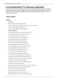 Las metamorfosis (Versión para imprimir)