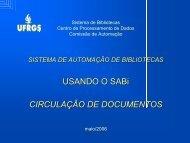 Tutorial Circulação de Documentos - ufrgs