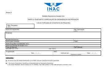 INAC/MNP Doc. 4.21G - Instituto Nacional de Aviação Civil