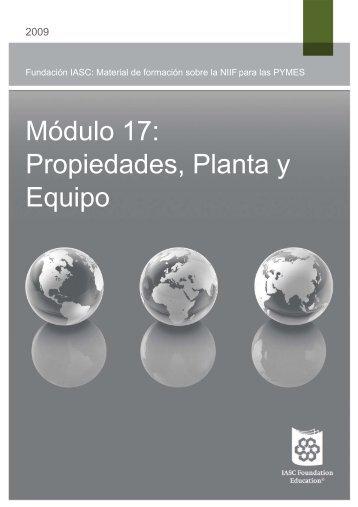 Módulo 17: Propiedades, Planta y Equipo