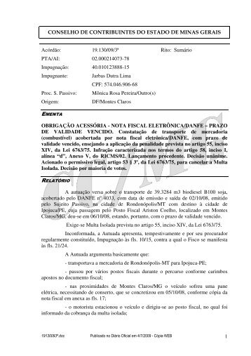 Microsoft Word - 19130093\252.doc - Secretaria de Estado de ...