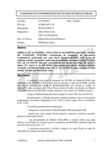 Microsoft Word - 19130093\252.doc - Secretaria de Estado de ...