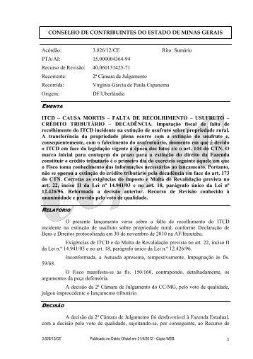 3826 - Secretaria de Estado de Fazenda de Minas Gerais
