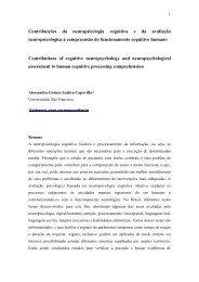 Contribuições da neuropsicologia cognitiva e da avaliação ...