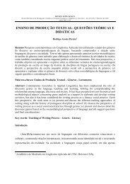 O Ensino de Produção Textual: Questões Teóricas e Didáticas