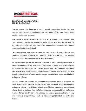 DESGRABACION DISERTACION FERNANDO MARIONA Gracias ...