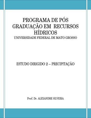 programa de pós graduação em recursos hídricos - Portal da ...