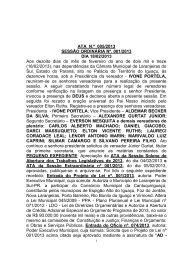 Ata - Câmara Municipal de Laranjeiras do Sul