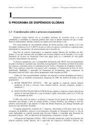 o programa de dispêndios globais - Ministério do Planejamento
