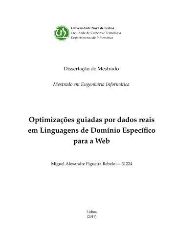 Optimizações guiadas por dados reais em Linguagens de Domínio ...