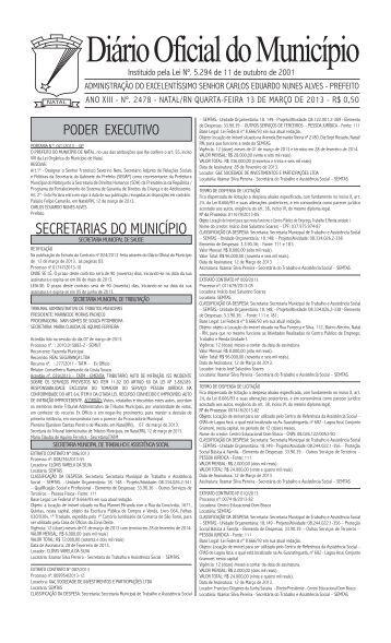 Diário Oficial do Município - Prefeitura Municipal do Natal