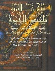 Explanation of a Summary of al-'Aqeedatul ... - Kalamullah.Com