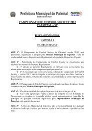campeonato de futebol society 2012 palmital - Prefeitura Municipal ...