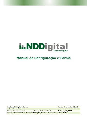 Manual de Configuração e-Forms - Login - NDDigital