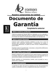 Garantía carpintería exterior (PDF) - Ventanas de madera