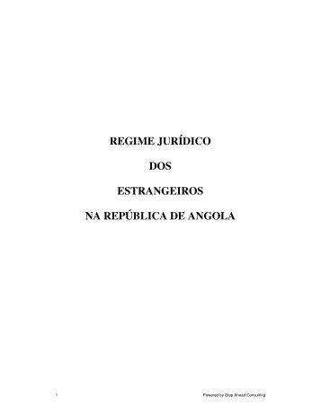 regime jurídico dos estrangeiros na república de angola