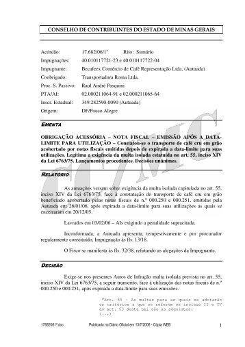 Microsoft Word - 17682061\252.doc - Secretaria de Estado de ...