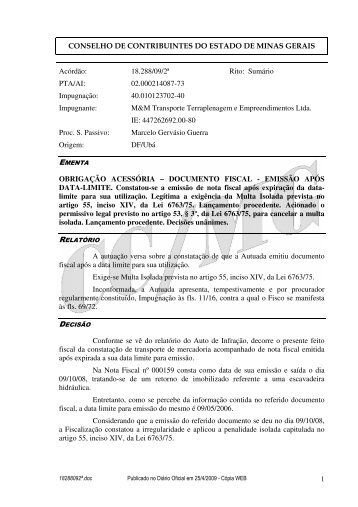 Microsoft Word - 18288092\252.doc - Secretaria de Estado de ...