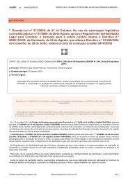 Decreto-Lei n.º 313/2009, de 27 de Outubro, No uso da autorização ...