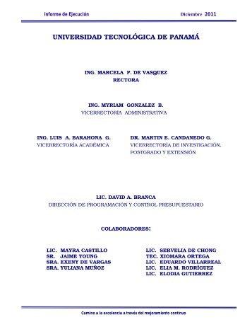 Diciembre - Universidad Tecnológica de Panamá