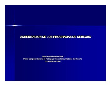 Presentación - Facultad de Derecho - Universidad de Chile