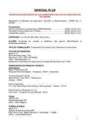 DEROSAL PLUS - Secretaria da Agricultura e Abastecimento