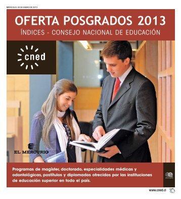 OFERTA POSGRADOS 2013 - CNED