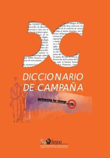 DICCIONARIO DE CAMPAÑA