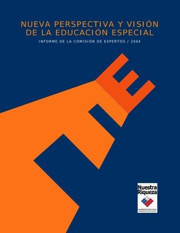 nueva perspectiva y visión de la educación especial - Ministerio de ...