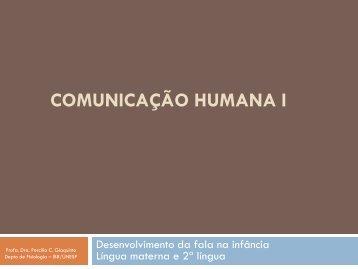 Comunicação Humana I - Unesp