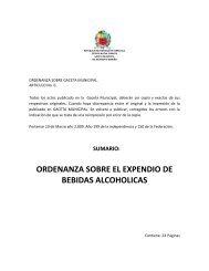 ordenanza sobre el expendio de bebidas alcoholicas - Alcaldia ...