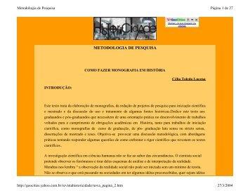 METODOLOGIA DE PESQUISA - PORTAL DO ADMINISTRADOR