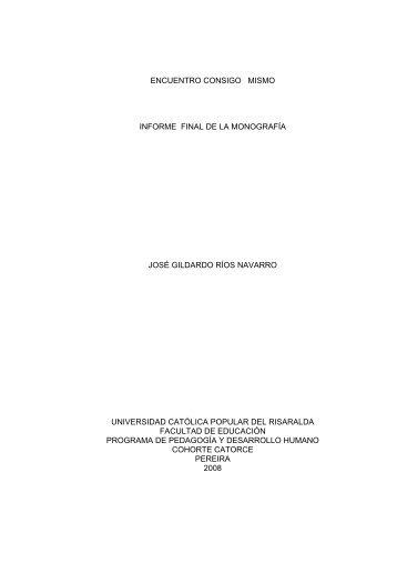 encuentro consigo mismo informe final de la monografía ... - Biblioteca