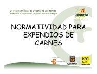 NORMATIVIDAD PARA EXPENDIOS DE CARNES - Alimenta Bogotá