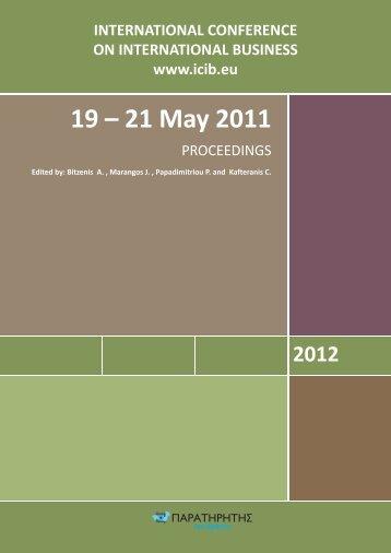 19 – 21 May 2011 - ICIB