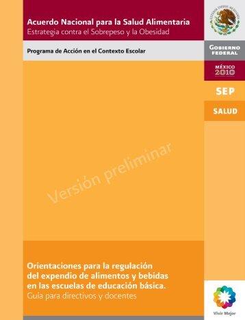 Versión preliminar - Secretaría de Salud del Estado de México
