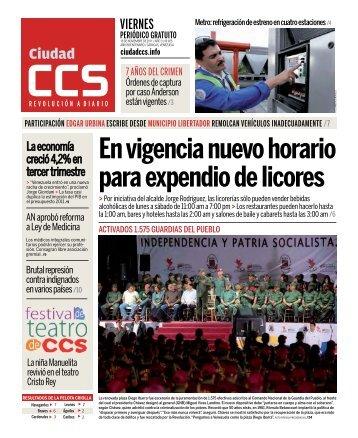En vigencia nuevo horario para expendio de licores - Ciudad CCS