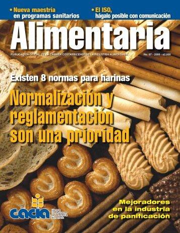 Existen 8 normas para harinas - Cámara Costarricense de la ...