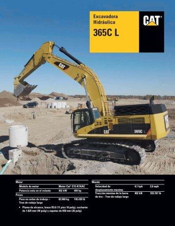 Specalog for Excavadora Hidráulica 365C L, ASHQ5623-01