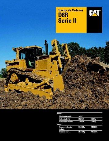 Tractor de Cadenas D8R Serie II, ASHQ5411