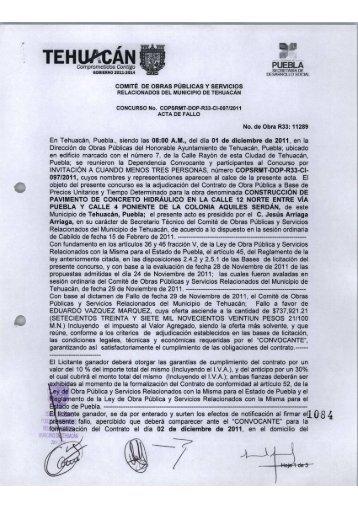 Impresión de fax de página completa - Tehuacán