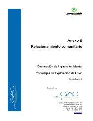 Anexo E - Relacionamiento comunitario - SEA - Servicio de ...