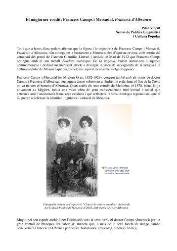 El migjorner erudit. Francesc Camps i Mercadal - Consell Insular de ...