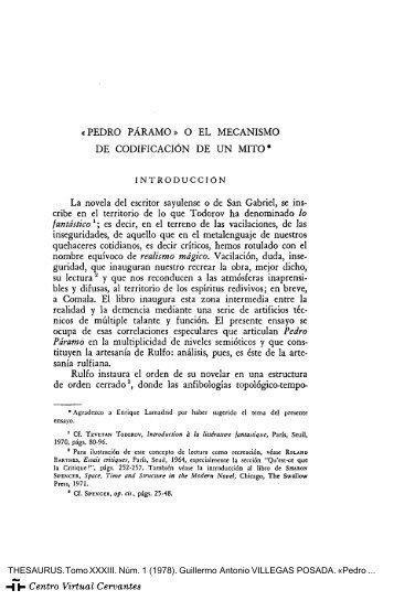 Pedro Páramo - Centro Virtual Cervantes