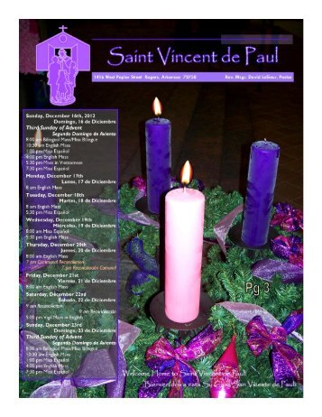 Disney's A Christmas Carol - Saint Vincent de Paul Catholic ...