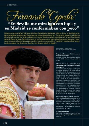 Entrevista con Fernando Cepeda - Las Ventas