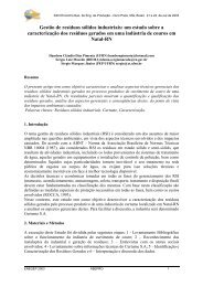 Gestão de resíduos sólidos industriais: um estudo sobre a ... - Abepro