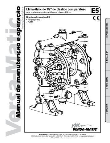 E5 Manual de manutenção e operação