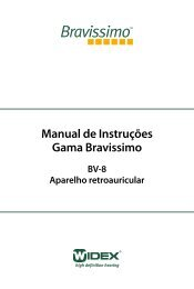 Manual de Instruções Gama Bravissimo - Widex