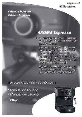 Manual do usuário Manual del usuario - Electrolux